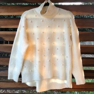 Madewell Snowglobe Bobble Pom Pom Sweater
